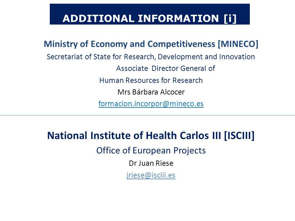 National Institute of Health Carlos III [ISCIII]